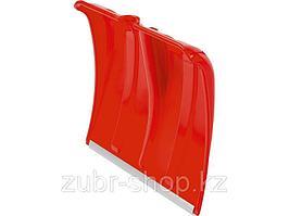 Лопата снеговая пластиковая с алюминиевой планкой без черенка, 385 мм, красная