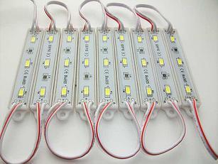 Светодиодный модуль 5630 Залитые (IP67) 1,2W Цвет - Белые сверх яркие