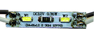MINI модуль (3014) не залитые на алюминиевой основе 0.36W (Белый)