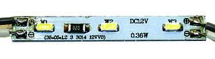 MINI модуль (3014) не залитые на алюминиевой основе 0.42W (Теплый белый)