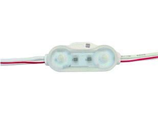 Двухточечный (2835) с линзой и алюминиевым теплоотводом 0,72W (IP67) Белый