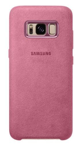 Чехол Alcantara Cover для Samsung Galaxy S8 Plus G955F (розовый)