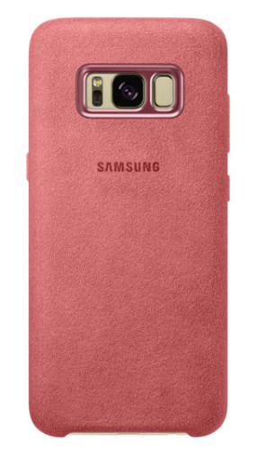 Чехол Alcantara Cover для Samsung Galaxy S8 G950F (красный)