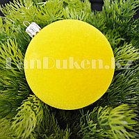 Набор шариков с бархатной поверхностью d 8 cм 4 шт (желтые)