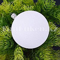 Набор шариков с бархатной поверхностью d 8 cм 4 шт (белые)