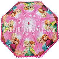 """Зонт-трость детский розовый """"Холодное сердце"""" (класс 1)"""