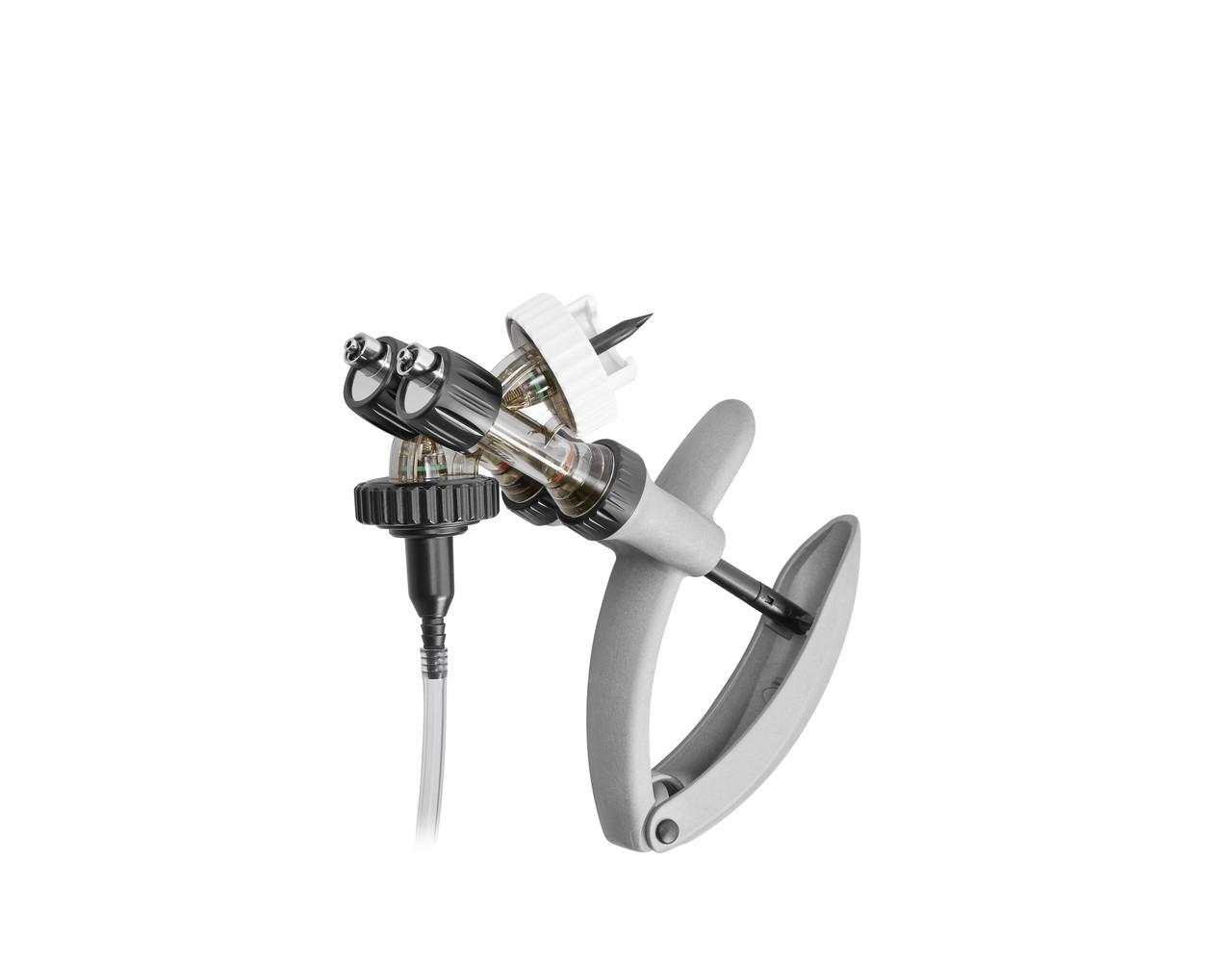 """Шприц-вакцинатор """"Эко-матик"""", емк. 0,5/0,5 мл, сдвоенный, универсальный, с держ. флакона и с трубкой, Хенке-Са"""