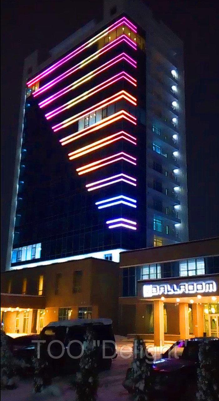 Подсветка зданий г. Талдыкурган