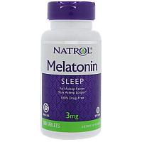 Мелатонин Time Release, 3 мг, 100 таблеток.  Natrol, Мелатонин TR, Time Release, 3 мг, 100 таблеток   Natrol
