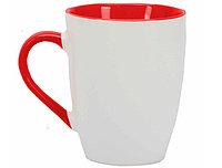 Кружка керамическая белая с красным