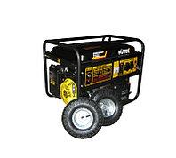 Бензиновый/газовый генератор HUTER DY6500LX, с колесами и аккумулятором