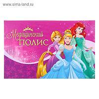 """Папка для медицинского полиса """"Принцессы"""", 17,5 х 10 см"""