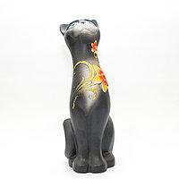 """Статуэтка """"Кошка"""", глиняная, 22 см"""