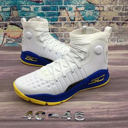 Баскетбольные кроссовки Under Armour Curry four IV ( 4 ) from Stephen Curry white with blue, фото 2