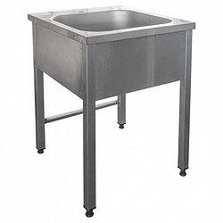 Ванна моечная цельнотянутая ПРОФИ ВМОц1-450ПНТ 550х600х850-870мм, (емкость 450х450х300мм)