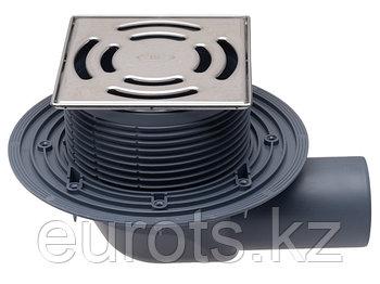 HL5100T  Трап для балконов с гориз. выпуском, с механическим незамерзающим запахозапирающим устр-о