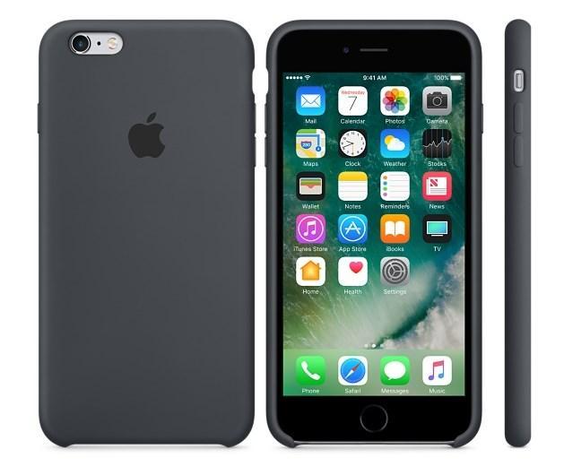 Cиликоновый чехол для iPhone 6 plus/6s plus (темно-серый)
