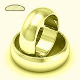 """Кольцо обручальное """"Итальянское золото"""" позолота, фото 3"""