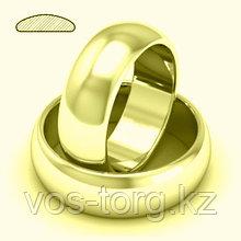 """Кольцо обручальное """"Итальянское золото"""" позолота"""