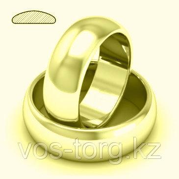"""Кольцо обручальное """"Итальянское золото"""" позолота - фото 2"""