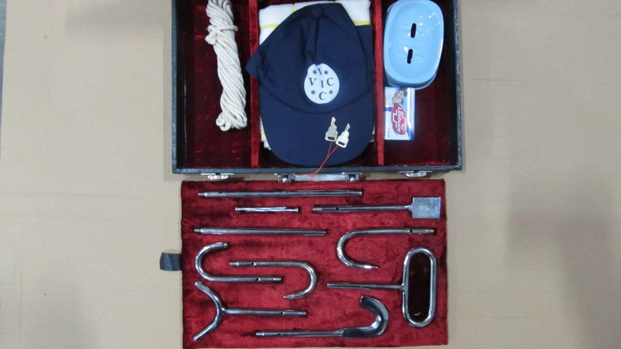 Клюка акушерская, раскладная, в наборе из 5 наконечников(насадок), дл. 100 см. (Пакистан)