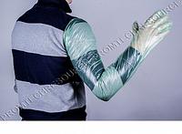Перчатка ветеринарная для И.О. 90/17, зеленая, п/э, ( пакет 100шт), ВИК-Гамета ЭКОНОМ-17