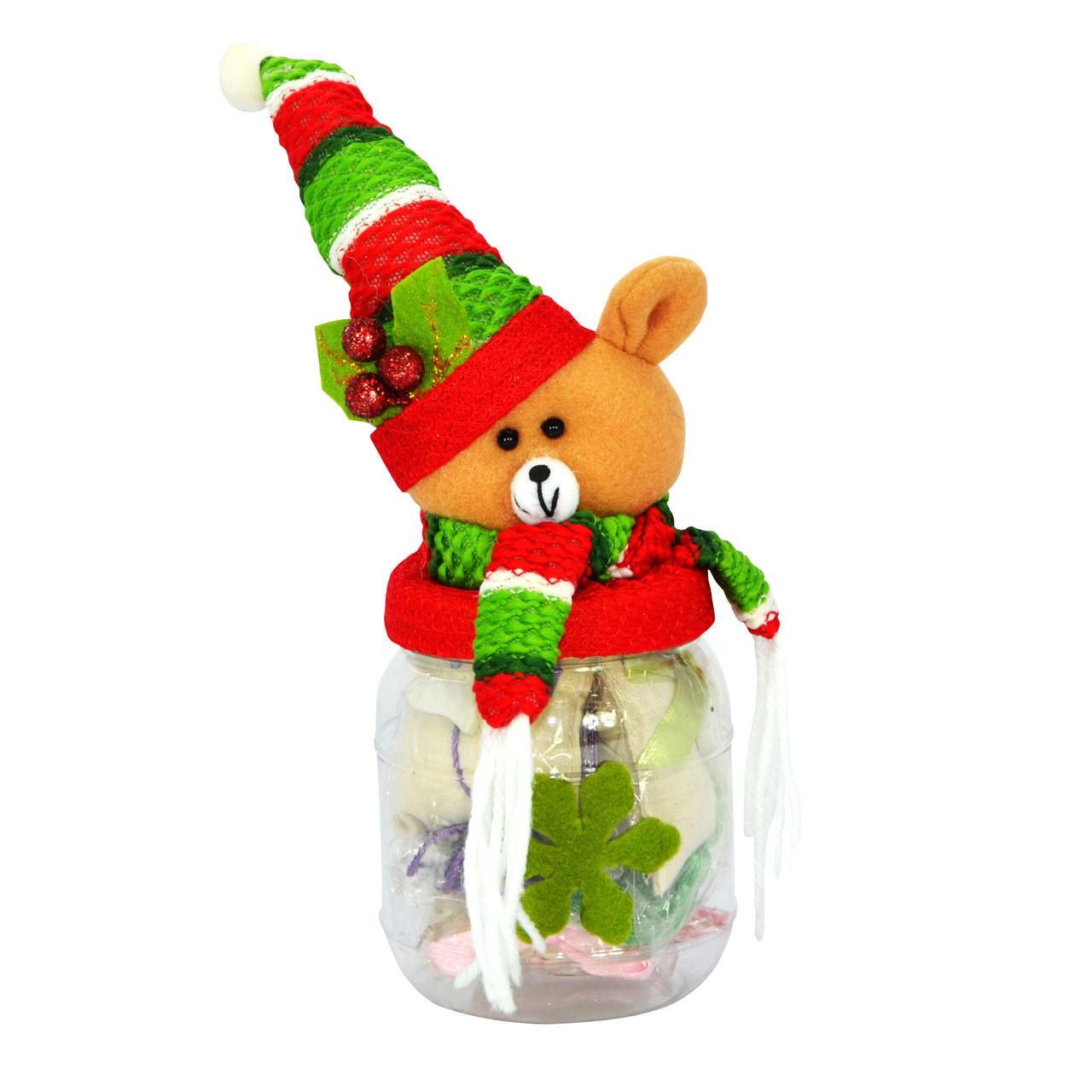 Новогодняя банка для сладостей, мишка