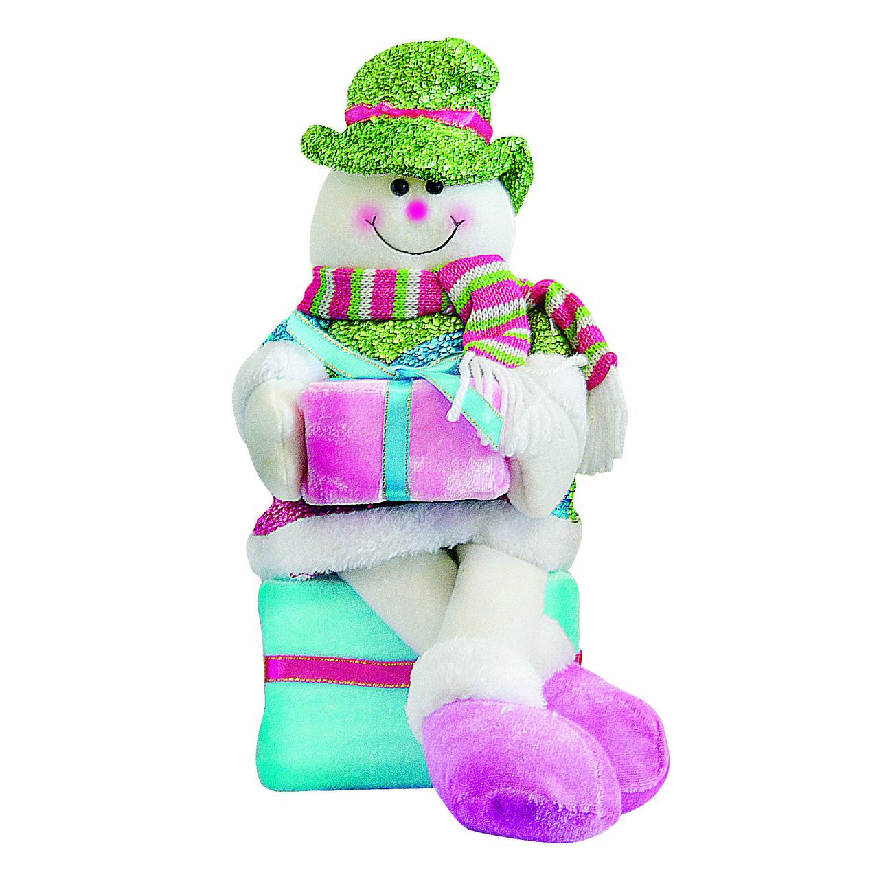 Снеговик 33см, коробка для подарков