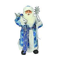 Дед Мороз 60см в голубом