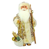 Дед Мороз 40 см в золотистом