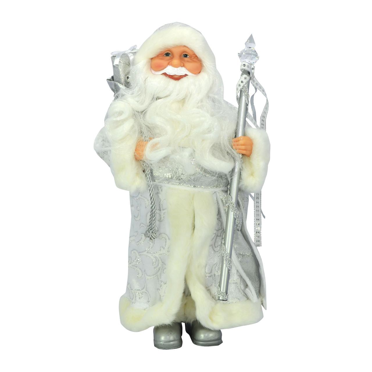 Дед Мороз 40 см в серебристом