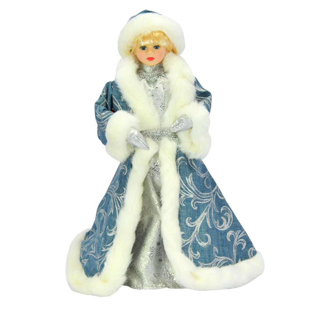 Снегурочка 35 см в  синем