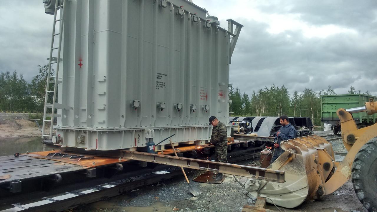 Такелажные работы по перемещению крупногабаритных и тяжеловесных грузов
