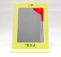 Косметическое зеркало 25*10 см, складное, желтое