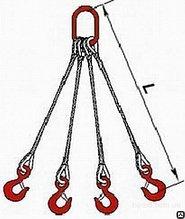 Строп канатный 4СК ГОСТ 25573- 82 (паук стальной, четырехветвевой)