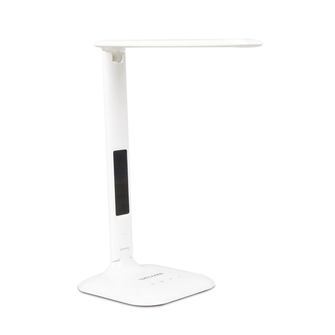 Настольная светодиодная лампа, Deluxe, DLTL-306W-9W, 9Вт, 27 диодов, Календарь, Часы, Будильник, USB