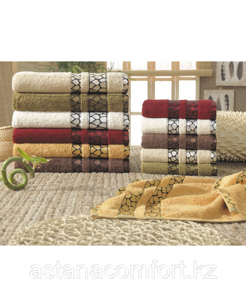 Полотенце банное с вышивкой, 140*70. Бамбук. Турция.