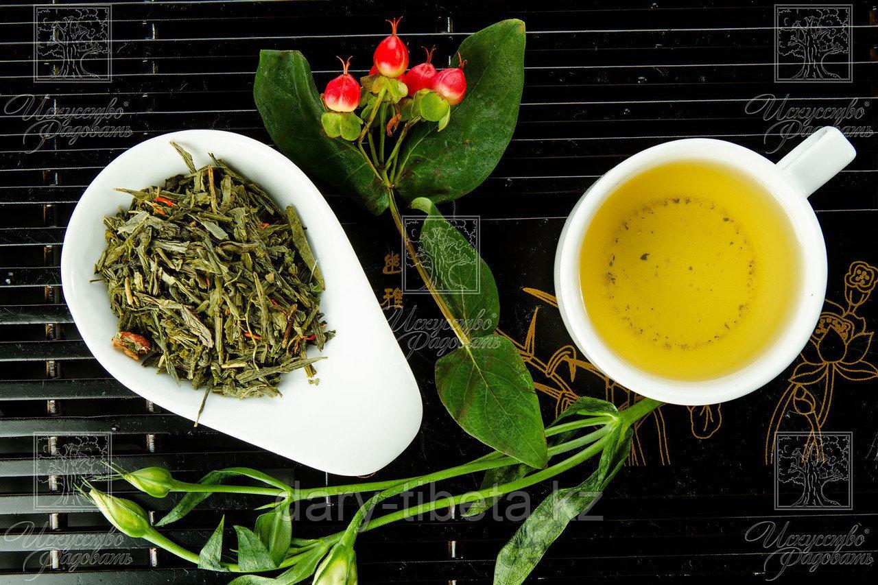 Китайский Зеленый чай с клубникой