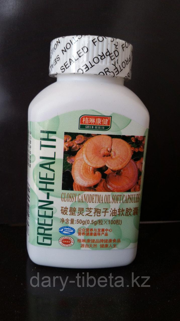 Капсула органического масла споры Ganoderma аттестации лоснистого мягкая