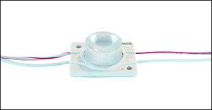 Одноточечный (3038) для торцевой подсветки с алюминиевым теплоотводом 2.4W (IP67) Белый