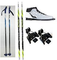 Лыжный комплект беговые лыжи, палки, крепления NN 75, ботинки натуральная кожа, 180 - 205 см