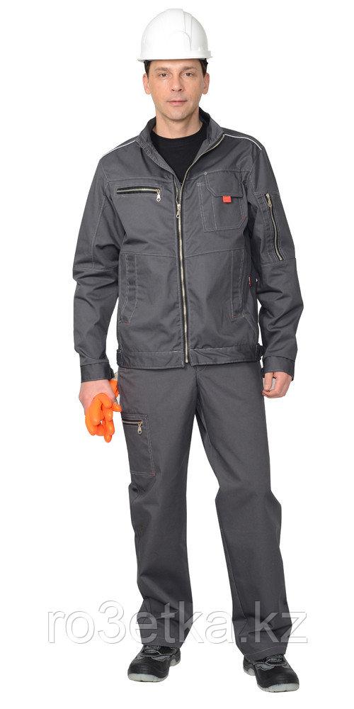 "Спецодежда летняя Костюм ""Даллас"" : куртка,п/к, цв.серый"