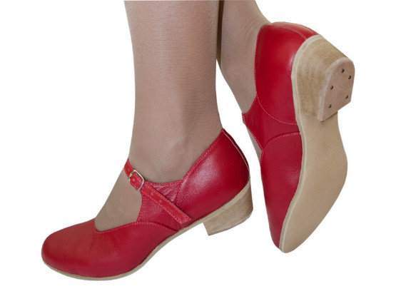 Туфли для народных танцев (красный) 42р