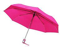 """Зонт складной автомат (21""""*14) розовый"""