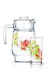Набор питьевой Luminarc Pop Flowers Green 7пр., фото 2
