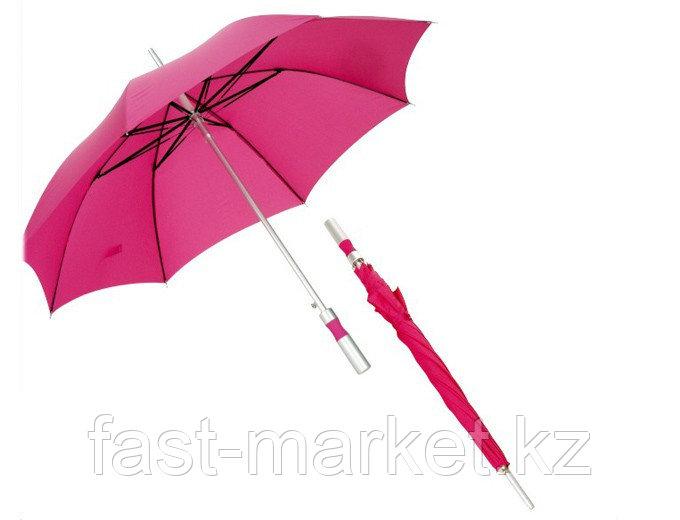 """Зонт - трость (23""""*14) розовый"""