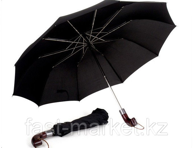 """Зонт складной с деревянным держателем (23""""*10)"""