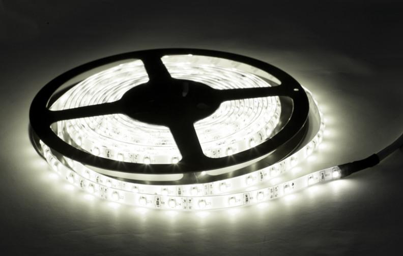 Влагозащищенная светодиодная лента 3528, 60 Д/М (IP65), Цвет - Белый