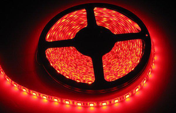 Влагозащищенная светодиодная лента 5050, 60 Д/М (IP65), Цвет - Красный