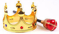 Набор королевские корона и скипетр (аксессуары для карнавала)